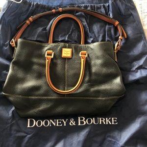 Black over the shoulder Dooney and Bourke purse.